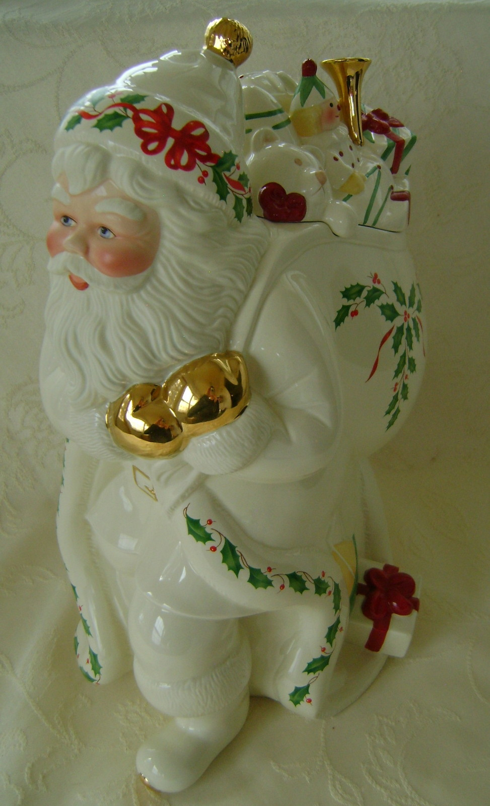Lenox, Holiday Santa Cookie Jar  NIB