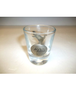 Glass Shot Glass with Pewter Duck & The Peabody Hotel Logo  - $18.00