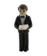 "12 Plastic Communion Boy with a bible favor 2-1/2"" tall - $5.95"