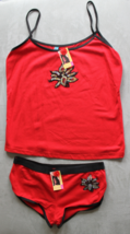 Women's Juniors Femina Red  Camisole and Panties Sleep Set Size L - $3.99