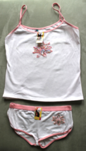 Women's Juniors Femina White  Camisole and Panties Sleep Set Size L - $3.99