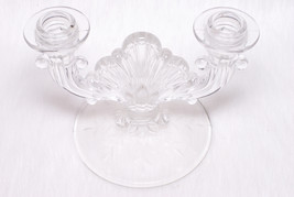 Vintage Collectible Fostoria Crystal Glass Etched Candle Holders Decor - $35.00