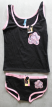 Women's Juniors Femina Black  Camisole and Panties Sleep Set Size S - $3.99