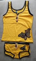 Women's Juniors Femina Yellow  Camisole and Panties Sleep Set Size M - $3.99