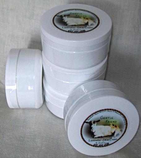 Lavender GENTLE FRIEND moisturizing skin cream, natural face cream, body butter