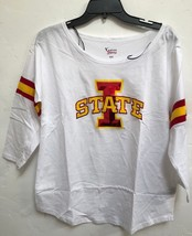 NEW  NCAA Iowa State Cyclones T-shirt Woman's white 3/4 Sleeve large - €8,30 EUR