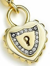 Juicy Couture Charm Padlock Heart Goldtone NEW - $57.42