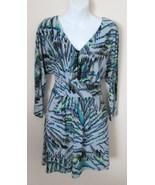Guess Size 2 Dress Gray Multi Print Stretch Kni... - $25.00