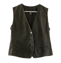 Anne Klein Dark Taupe Brown Suede Vest size 10 - $44.00
