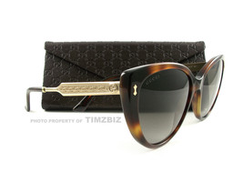 New Gucci Sunglasses GG 3804/S Dark Havana Gold CRXHA Authentic - £210.58 GBP