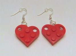 Earrings heart red thumb200