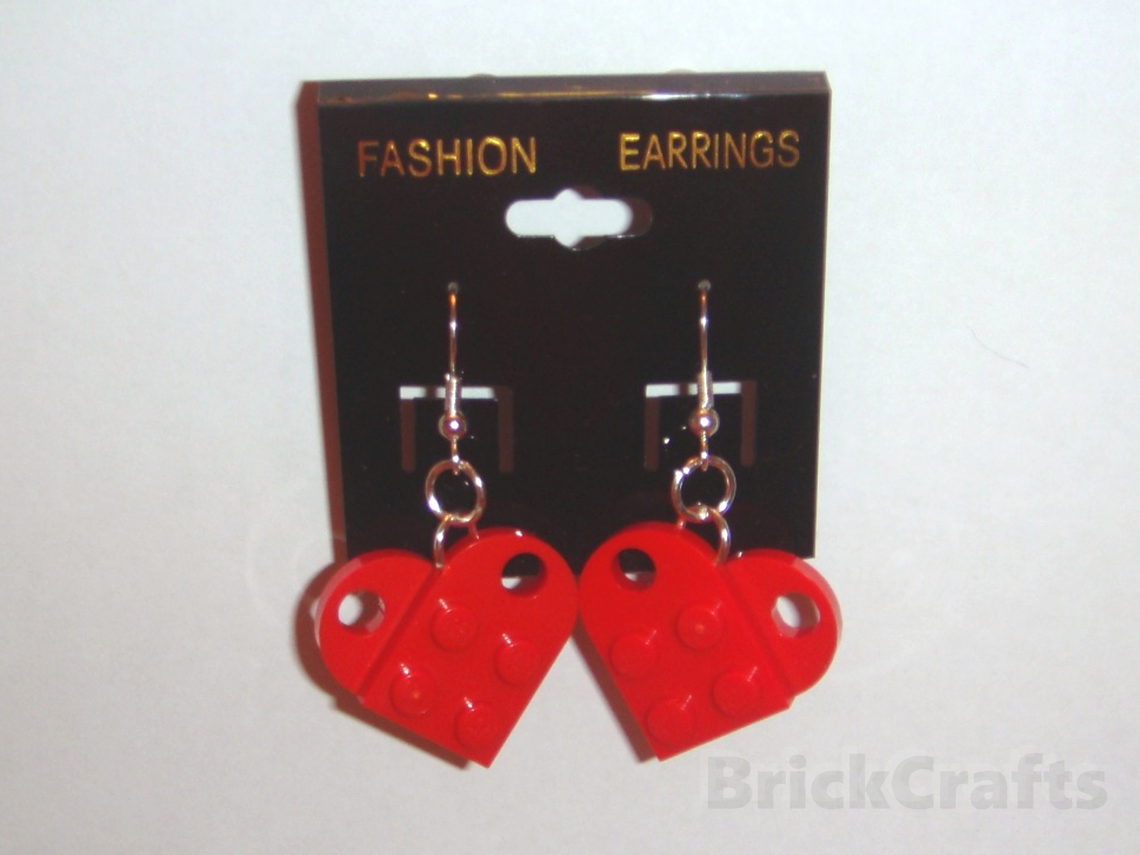 BrickCrafts LEGO® Fashion Heart Dangle Earrings