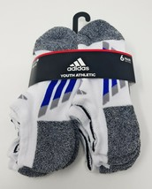 Adidas No Show Socks sz 13C-4Y Youth Cushioned Comfort Soft Moisture Wic... - $14.86