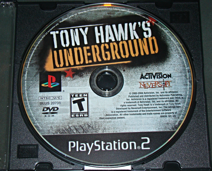 Primary image for Playstation 2 - TONY HAWK'S UNDERGROUND (Game Only)