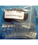 10 AIR-TITE Coin Holders for American Silver Eagle - $6.06 CAD