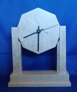 Renoir Visions Designs Celina, OH Marble Mantle Clock Temple Shaped - $27.00
