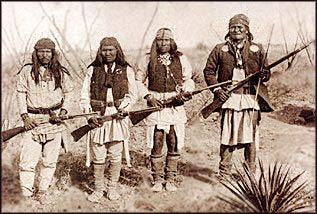 Primary image for Geronimo's Band Apache Chief 11X14 Sepia Native American Memorabilia Photo