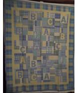 ABC's Baby Blanket Fabric Panel - $10.00