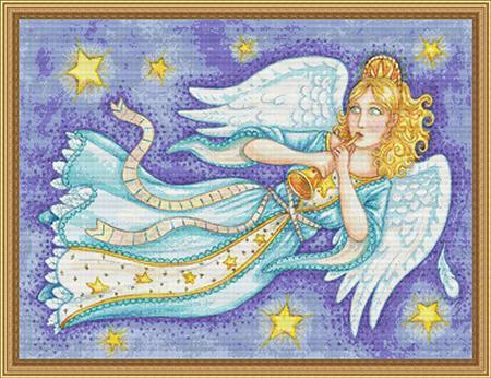Primary image for Star Song angel cross stitch chart Stitchx Craft Designs