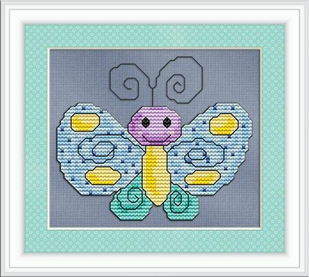 Primary image for Happy Butterfly angel cross stitch chart Stitchx Craft Designs