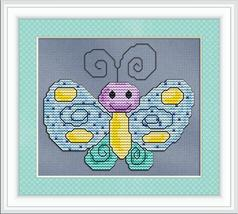 Happy Butterfly angel cross stitch chart Stitchx Craft Designs - $7.20