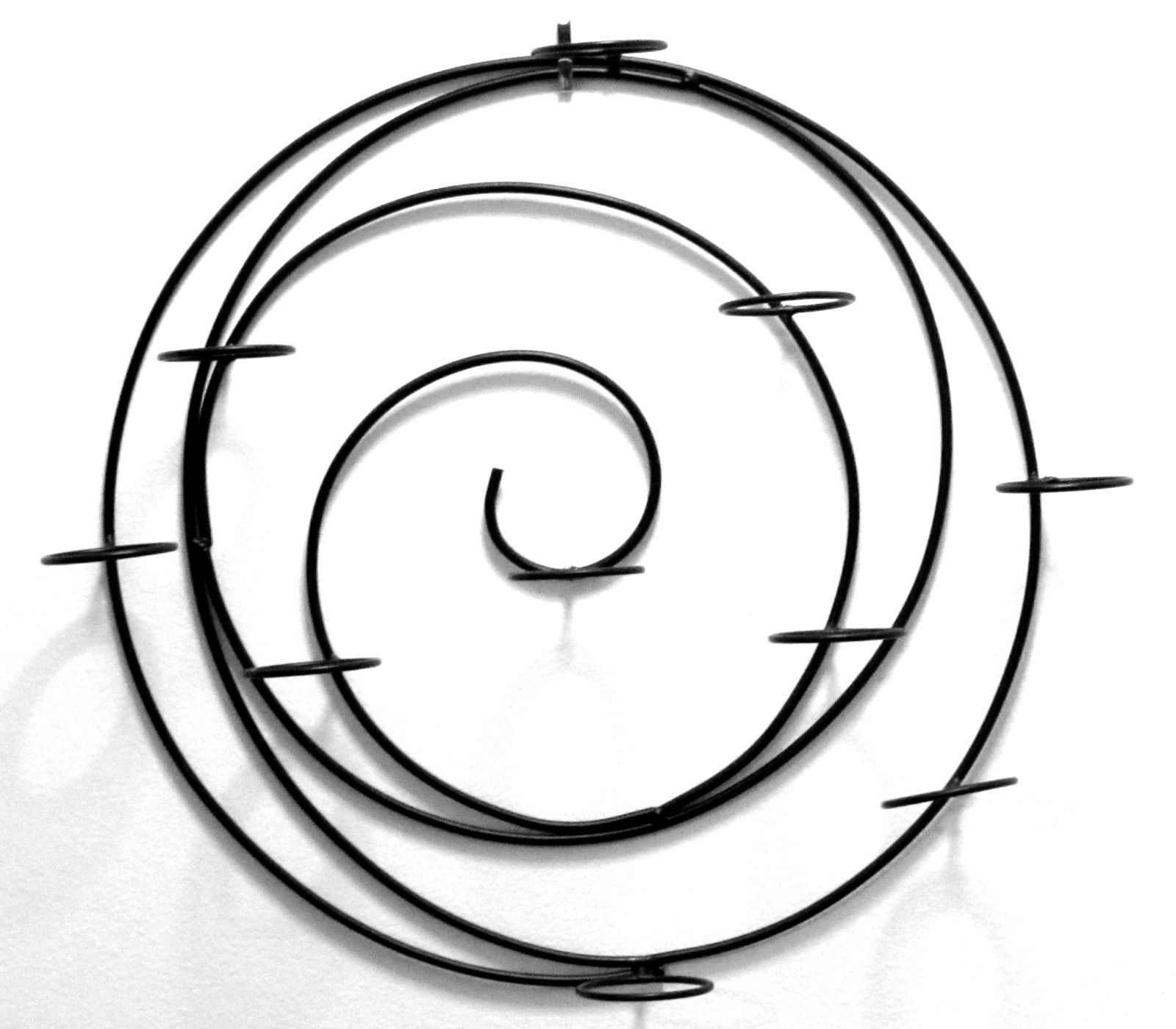 Metal Spiral Wall Tea Light Candleholder Wall Sconce Black Finish
