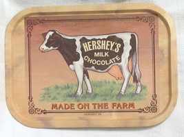 VINTAGE Bristolware Hershey's Milk Chocolate Made On The Farm Tin Tray Sign