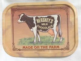VINTAGE Bristolware Hershey's Milk Chocolate Made On The Farm Tin Tray Sign