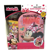 Disney Junior Minnie Mouse Bath Buddy Set with Body Wash Wash Mitt 4oz B... - $10.99