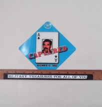 "NOS New 5""x5"" Captured Saddam Hussein Ace Decem... - $2.50"