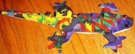 Multi-Colored Iguana Soft Plush Toy from St. Barthelemy - $5.00