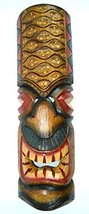 "20"" HAND CARVED DOTS TIKI MASK HAWAIIAN POLYNESIAN WALL ART TRIBAL BAR T... - $19.79"
