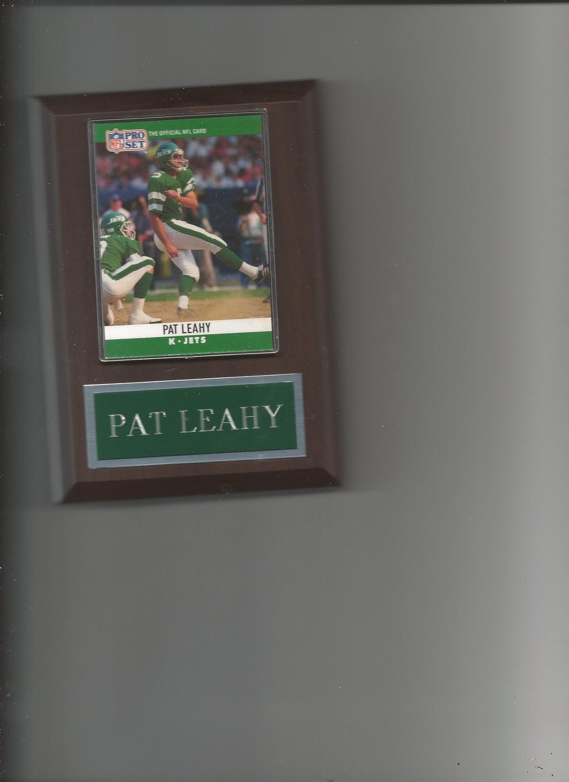 Primary image for PAT LEAHY PLAQUE NEW YORK JETS NY FOOTBALL NFL