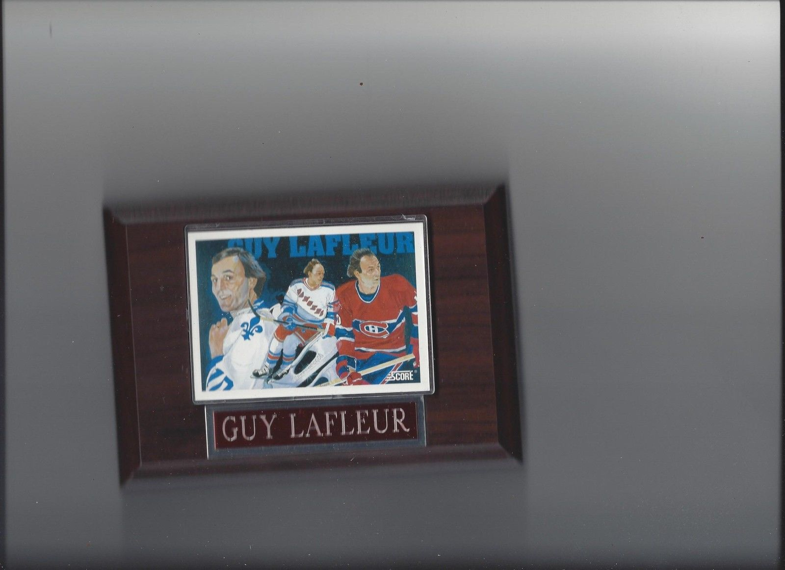 Primary image for GUY LAFLEUR PLAQUE MONTREAL CANADIENS HOCKEY NHL NY NEW YORK RANGERS LEAFS