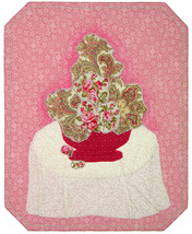 Milady's Flowers: Quilted Art Wall Hanging - $385.00