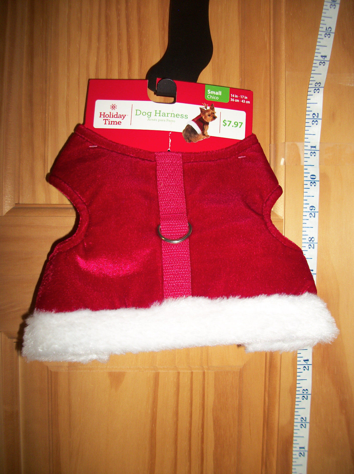 Primary image for SimplyDog Pet Clothes Small Dog Harness New Santa Suit Christmas Holiday Costume
