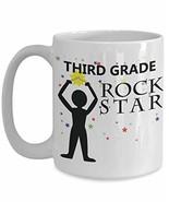 PixiDoodle Third Grade Teacher Coffee Mug (15 oz, White) - $20.89