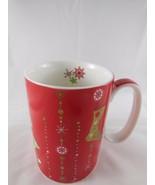 Starbucks 2006 Holiday Gold Red Coffee Mug 14 oz Christmas Stockings  Sn... - $6.92