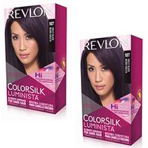 Pack of (2) New Revlon Colorsilk Luminista Haircolor, Violet Black - $19.99