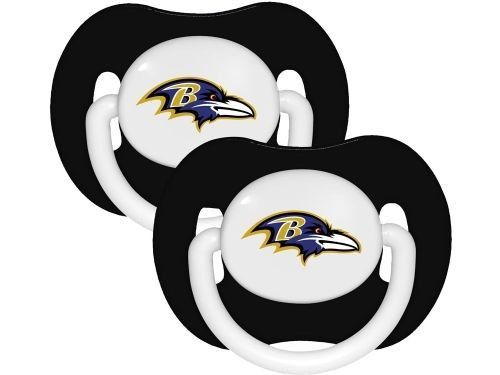 BALTIMORE RAVENS 2-PACK BABY INFANT ORTHODONTIC PACIFIER SET NFL FOOTBALL