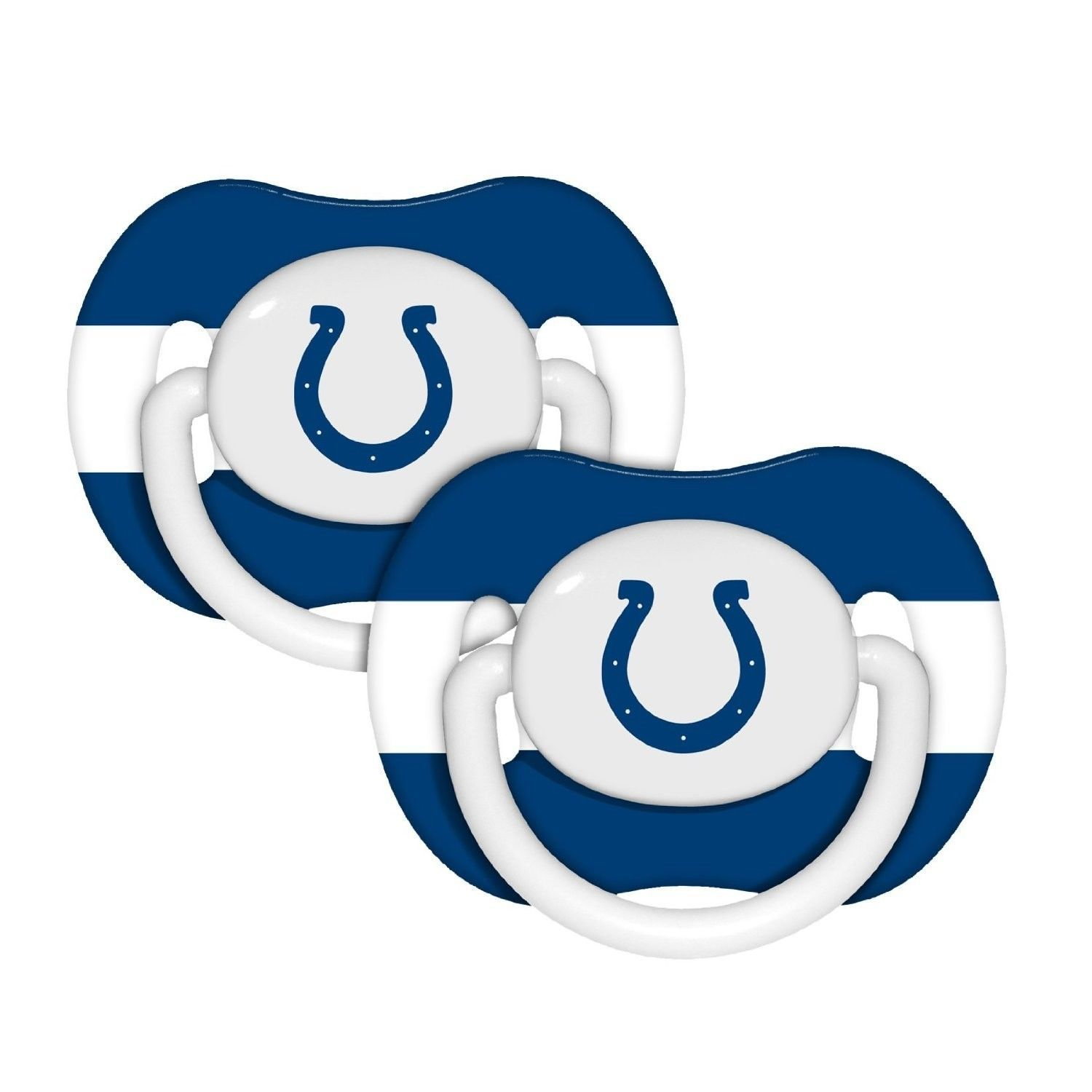 INDIANAPOLIS COLTS 2-PACK BABY INFANT ORTHODONTIC PACIFIER SET SET NFL FOOTBALL