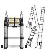 16.5 Ft Aluminum Telescopic Ladder Telescoping A-Type Extension Multi Pu... - $124.95