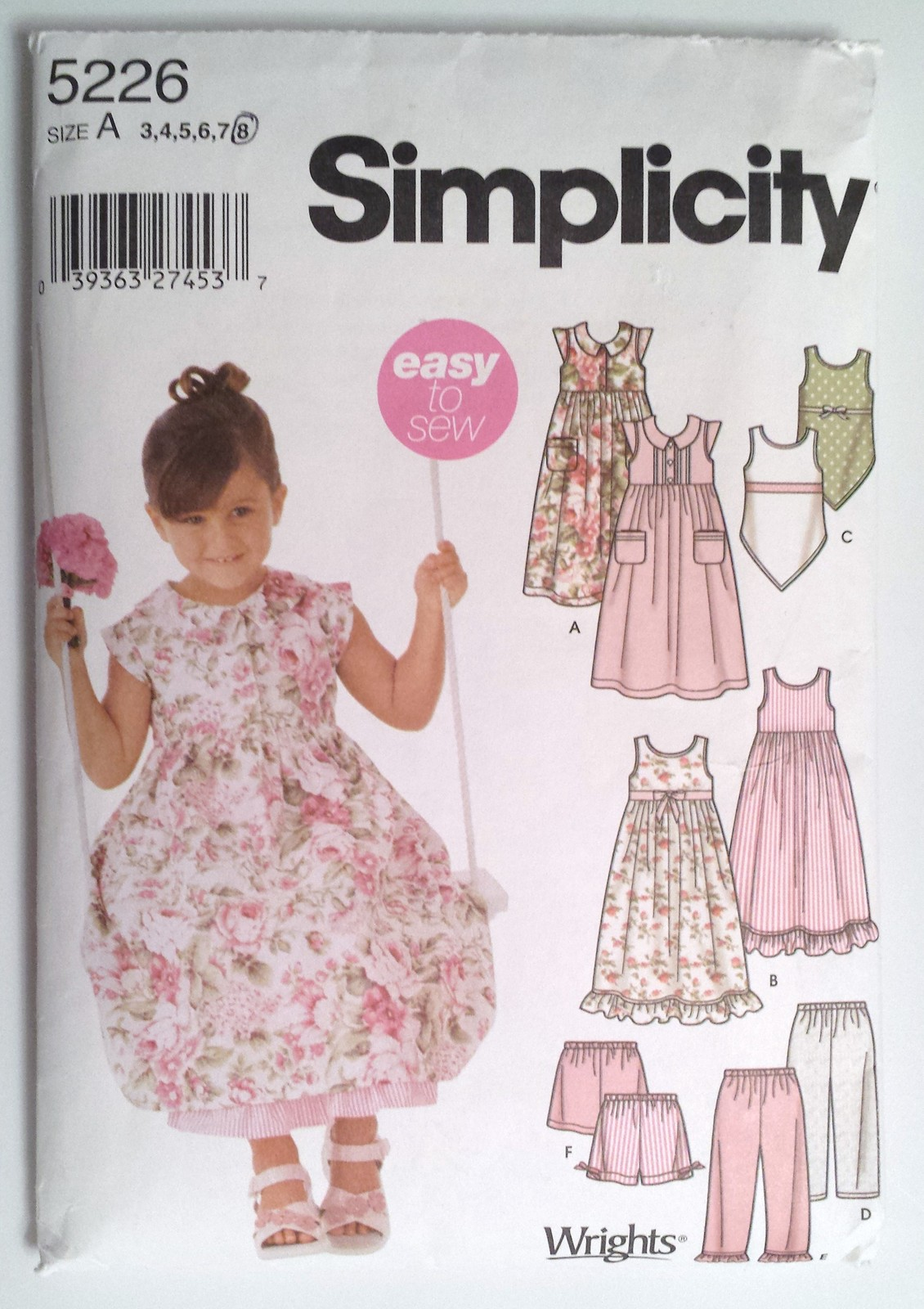 how to style the back of your hair simplicity 5226 childs dress top or shorts size 5226