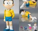 Anime Cartoon Doraemon The Robot Spirits Nobi Nobita PVC Action Figure Toy 12CM