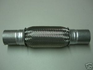 """NEW EXHAUST FLEX PIPE UNIVERSAL 2.25"""" X 8"""" W/ EXTENSION - $23.51"""