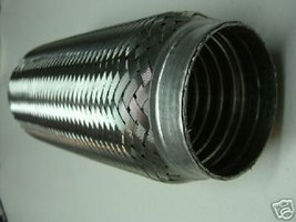 "New Exhaust Flex Pipe Universal 2 1/4"" X 10"" Reinforced - $23.71"