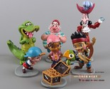 Anime Cartoon Jake and The Neverland Pirates PVC Action Figure ToysDolls 7pcs/se