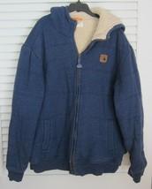 Field & Stream Sherpa Curly Fleece Lined Hoodie Sweatshirt Blue sz XXL - $23.72