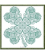 Clover st patricks day luck cross stitch chart Alessandra Adelaide Needl... - $16.75