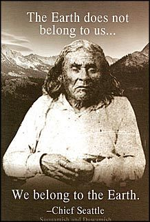 Primary image for We Belong To The Earth Chief Seattle Vintage 4X6 Sepia Native American Postcard